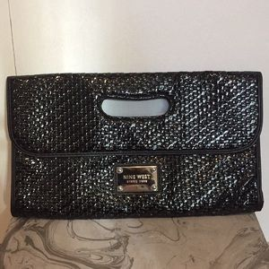 Nine West patent leather clutch